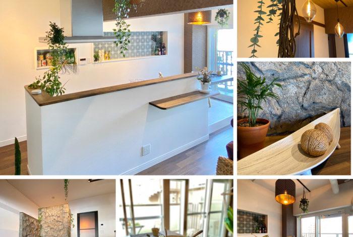 【明石市】心地よい癒しの空間「リゾートスタイルのリノベーション」。ユニハイム明石318号室