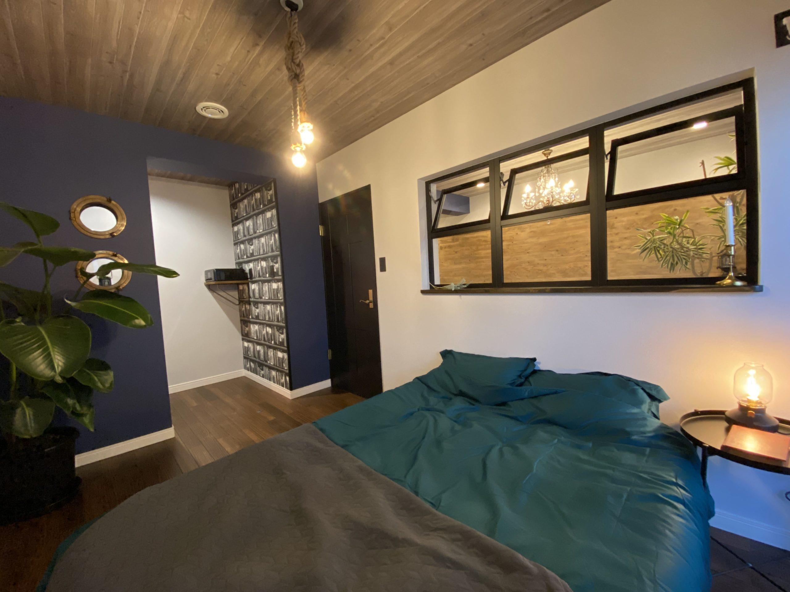 【明石市】海が見えるお部屋「ヴィンテージリゾート」明石アーバンライフ619号室。ステージング後の寝室(BEDROOM)
