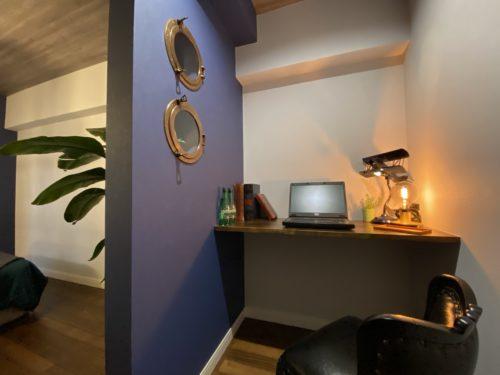 【明石市】海が見えるお部屋「ヴィンテージリゾート」明石アーバンライフ619号室。ステージング後の書斎